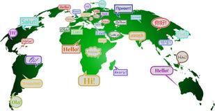 Γειά σου σε πολλές γλώσσες ελεύθερη απεικόνιση δικαιώματος