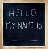 γειά σου το όνομά μου Στοκ Εικόνες