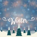 Γειά σου χειμερινή απεικόνιση Στοκ Φωτογραφίες