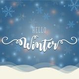 Γειά σου χειμερινή απεικόνιση Στοκ Εικόνες