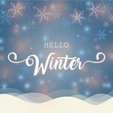 Γειά σου χειμερινή απεικόνιση Στοκ φωτογραφία με δικαίωμα ελεύθερης χρήσης