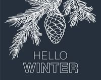 Γειά σου χειμερινή κάρτα Στοκ φωτογραφία με δικαίωμα ελεύθερης χρήσης