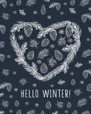 Γειά σου χειμώνας καλή χρονιά Χριστούγεννα εύθυμα Στοκ φωτογραφία με δικαίωμα ελεύθερης χρήσης