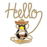 Γειά σου pinguin Στοκ φωτογραφία με δικαίωμα ελεύθερης χρήσης