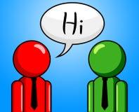 Γεια η συνομιλία επιδεικνύει πώς είστε εσείς και Chinwag Στοκ εικόνες με δικαίωμα ελεύθερης χρήσης