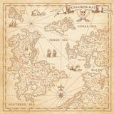 Γεια διανυσματικός χάρτης θησαυρών λεπτομέρειας ελεύθερη απεικόνιση δικαιώματος