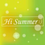 Γεια καλοκαίρι Στοκ Εικόνα