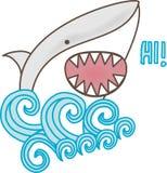γεια λέει τον καρχαρία ελεύθερη απεικόνιση δικαιώματος