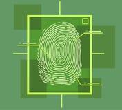 Γεια σύνθεση δακτυλικών αποτυπωμάτων τεχνολογίας Στοκ Εικόνα