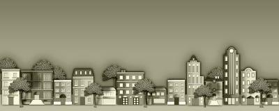 γειτονιά απεικόνισης Στοκ Εικόνες