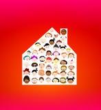 Γειτονιά: πολυ φυλετικοί άνθρωποι γειτόνων Στοκ Εικόνες