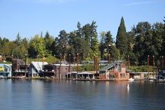 Γειτονιά πλωτών σπιτιών Στοκ Εικόνες