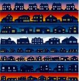 γειτονιά σπιτιών ανασκόπη&sigma Στοκ εικόνες με δικαίωμα ελεύθερης χρήσης