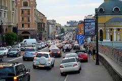 Γειτονιά Podil σε Kyiv, Ουκρανία Στοκ φωτογραφία με δικαίωμα ελεύθερης χρήσης