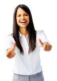γελώντας γυναίκα επιτυχίας στοκ εικόνες με δικαίωμα ελεύθερης χρήσης