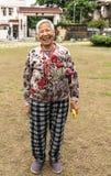 Γελώντας κυρία Tai Fu Tai στο προγονικό σπίτι, Χονγκ Κονγκ Κίνα στοκ φωτογραφία