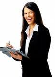 γελώντας οργανωμένη γυναίκα στοκ εικόνες