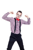 Γεμάτο αυτοπεποίθηση άτομο nerd Στοκ Εικόνα