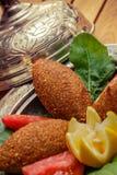 Γεμισμένα κεφτή, παραδοσιακά τουρκικά τρόφιμα Στοκ Εικόνες
