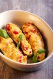Γεμισμένα κολοκύθια με τα λαχανικά Στοκ Φωτογραφία