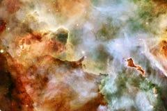 Γεμισμένα κόσμος αστέρια, νεφέλωμα και γαλαξίας Κοσμική τέχνη, ταπετσαρία επιστημονικής φαντασίας στοκ φωτογραφίες με δικαίωμα ελεύθερης χρήσης