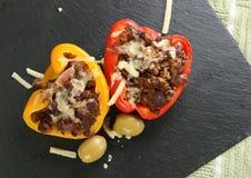 Γεμισμένα πιπέρια ψητού Στοκ Εικόνα