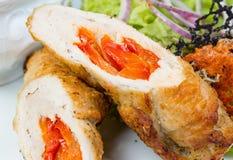 Γεμισμένα πιπέρι και λαχανικά φραντζολών κρέατος Στοκ Φωτογραφίες
