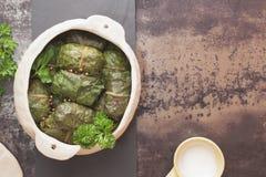 Γεμισμένα πράσινα λάχανων Στοκ φωτογραφίες με δικαίωμα ελεύθερης χρήσης