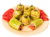 Γεμισμένα πράσινα πιπέρια, Dolma Στοκ Φωτογραφίες