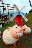 Γεμισμένα πρόβατα κεραμικά Στοκ Εικόνες