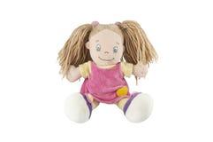 Γεμισμένη μαλακή αστεία χοίρος-παρακολουθημένη κούκλα στοκ εικόνες