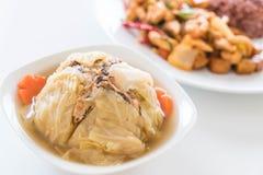 Γεμισμένη σούπα λάχανων Στοκ Εικόνες