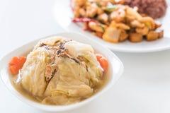 Γεμισμένη σούπα λάχανων Στοκ Φωτογραφία