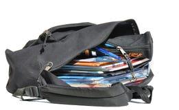 γεμισμένη σχολική τσάντα καλά Στοκ φωτογραφία με δικαίωμα ελεύθερης χρήσης