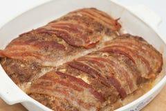 Γεμισμένη meatloaf προετοιμασία Στοκ φωτογραφίες με δικαίωμα ελεύθερης χρήσης