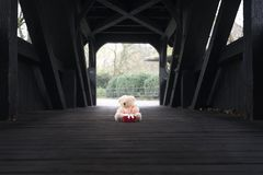 Γεμισμένος αφορτε το παιχνίδι και το δώρο μια γέφυρα Στοκ φωτογραφία με δικαίωμα ελεύθερης χρήσης