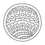 Γεμισμένος Doodles κύκλος απεικόνιση αποθεμάτων