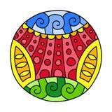 Γεμισμένος Doodles κύκλος ελεύθερη απεικόνιση δικαιώματος