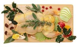 Γεμισμένο κοτόπουλο Στοκ Εικόνες