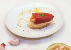 Γεμισμένο πιπέρι Piquillo Στοκ Εικόνες