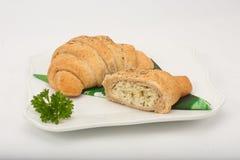Γεμισμένο πρόχειρο φαγητό Croissant Στοκ εικόνα με δικαίωμα ελεύθερης χρήσης