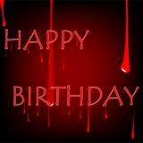 γενέθλια αιματηρά Στοκ εικόνα με δικαίωμα ελεύθερης χρήσης