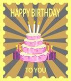 γενέθλια ευτυχή σε σας ελεύθερη απεικόνιση δικαιώματος