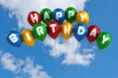 γενέθλια μπαλονιών ευτυχή Στοκ Φωτογραφίες