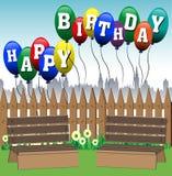 γενέθλια μπαλονιών ευτυχή Στοκ εικόνα με δικαίωμα ελεύθερης χρήσης