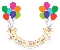 γενέθλια μπαλονιών ευτυ ελεύθερη απεικόνιση δικαιώματος