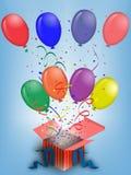 γενέθλια μπαλονιών Στοκ Εικόνα