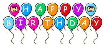 γενέθλια μπαλονιών διανυσματική απεικόνιση