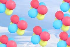 γενέθλια μπαλονιών Στοκ Εικόνες