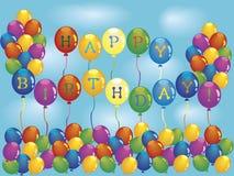 γενέθλια μπαλονιών Στοκ φωτογραφία με δικαίωμα ελεύθερης χρήσης